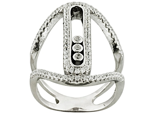 Photo of Bella Luce ® .92ctw Rhodium Over Sterling Silver Ring (.47ctw Dew) - Size 6