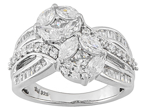 Photo of Bella Luce ® 3.31ctw Diamond Simulant Rhodium Over Sterling Silver Ring (2.16ctw Dew) - Size 7