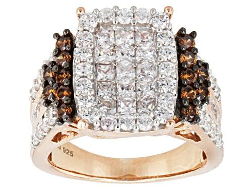 Bella Luce ® 4.25ctw White & Champagne Diamond Simulant Eterno ™ Rose Ring (2.48ctw Dew) - Size 5