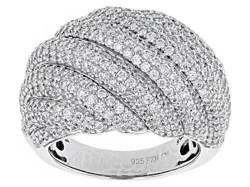 Photo of Bella Luce ® 4.51ctw Round Rhodium Over Sterling Silver Ring (2.51ctw Dew) - Size 5
