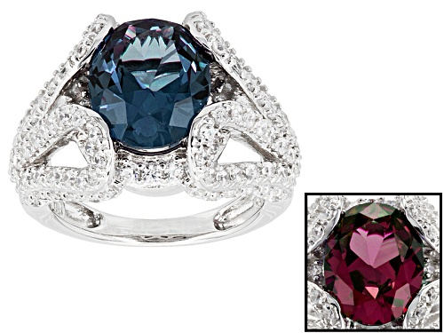 Photo of Bella Luce ® 5.82ctw Alexandrite And White Diamond Simulants Rhodium Over Sterling Silver Ring - Size 7