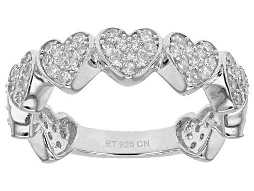 Photo of Bella Luce ® 1.53ctw Diamond Simulant Round Rhodium Over Sterling Silver Heart Ring (.76ctw Dew) - Size 9