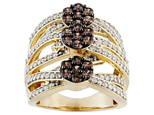 Photo of Bella Luce ® 3.65ctw Mocha & White Diamond Simulant Eterno ™ Yellow Ring (1.48ctw Dew) - Size 5