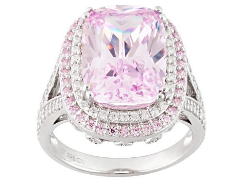 Photo of Bella Luce® 14.08ctw Pink & White Diamond Simulant Rhodium Over Sterling Silver Ring (9.13ctw Dew) - Size 12