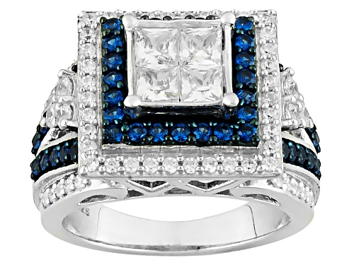 Photo of Bella Luce ® 3.15ctw White Diamond Simulant & Lab Created Sapphire Rhodium Over Sterling Ring - Size 11