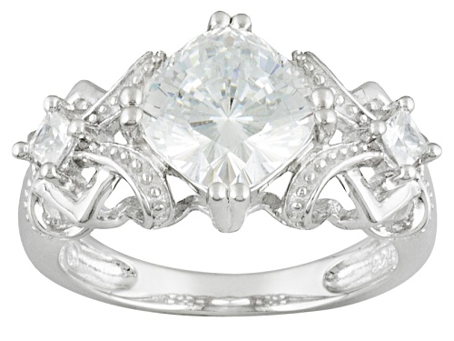 Photo of Bella Luce ® 3.86ctw Amkor Cut Rhodium Over Sterling Silver Ring (2.16ctw Dew) - Size 11