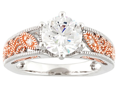 Photo of Bella Luce ® 3.51ctw Eterno ™ Rose And Rhodium Over Sterling Silver Ring (2.08ctw) - Size 8