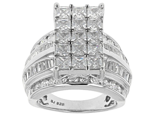 Photo of Bella Luce ® 8.29ctw Diamond Simulant, Rhodium Over Sterling Silver Ring (4.79ctw Dew) - Size 12
