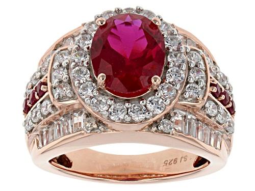 Photo of Bella Luce ® 6.04ctw Ruby & White Diamond Simulants Eterno ™ Rose Ring - Size 5
