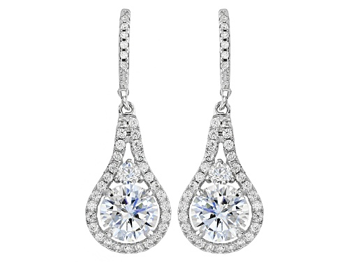 Photo of Bella Luce ® 7.85ctw Rhodium Over Sterling Silver Earrings (5.03ctw Dew)
