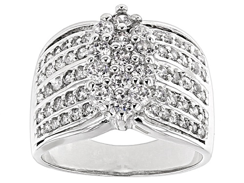 Photo of Bella Luce ® 2.70ctw Diamond Simulant Round Rhodium Over Sterling Silver Ring (1.39ctw Dew) - Size 8