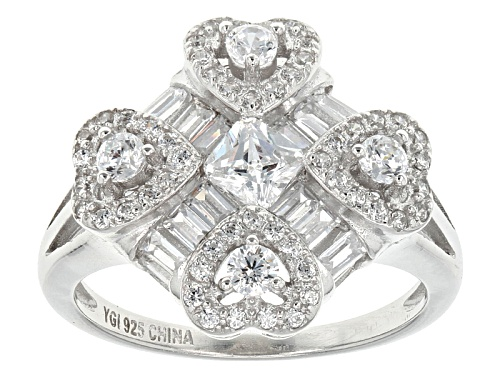 Photo of Bella Luce ® 2.81ctw Rhodium Over Sterling Silver Ring (1.69ctw Dew) - Size 5