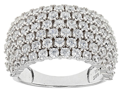 Photo of Bella Luce ® 4.68ctw Rhodium Over Sterling Silver Ring (2.34ctw Dew) - Size 6