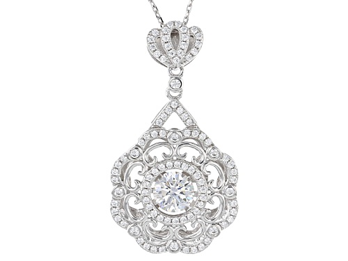"Photo of Bella Luce ® 2.87ctw Rhodium Over Sterling Silver ""Dancing Bella"" Pendant With Chain (1.78ctw Dew)"