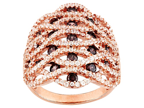 Photo of Bella Luce ® 3.29ctw Mocha And White Diamond Simulants Eterno ™ Rose Ring (1.83ctw Dew) - Size 6