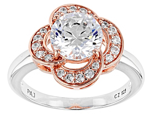 Photo of Bella Luce ® 3.39ctw Rhodium Over Sterling Silver And Eterno ™ Rose Ring (2.30ctw Dew) - Size 8