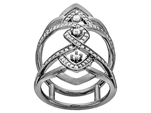 Photo of Bella Luce ® .98ctw Diamond Simulant Black Rhodium Over Sterling Silver Ring (.49ctw Dew) - Size 6