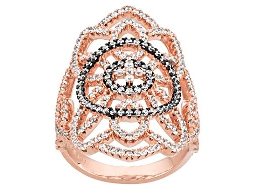 Photo of Bella Luce ® 2.50ctw Diamond Simulant Round Eterno ™ Rose Ring (1.25ctw Dew) - Size 5