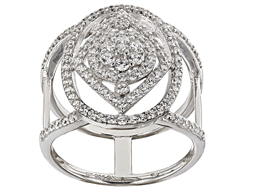 Photo of Bella Luce ® 1.54ctw Diamond Simulant Round Rhodium Over Sterling Silver Ring (.92ctw Dew) - Size 5