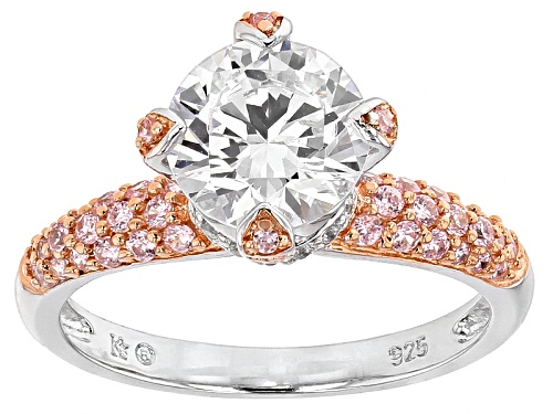 Photo of Bella Luce ®4.18ctw Pink And White Diamond Simulants Eterno ™ Rose And Rhodium Over Silver Ring - Size 9
