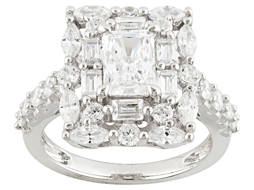 Photo of Bella Luce ® 4.87ctw Rhodium Over Sterling Silver Ring (3.02ctw Dew) - Size 10