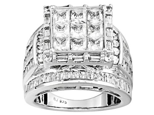 Photo of Bella Luce ® 6.47ctw Diamond Simulant Platineve® Ring (5.79ctw Dew) - Size 12
