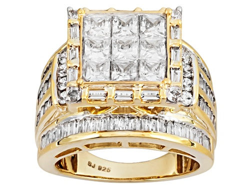 Photo of Bella Luce ® 6.47ctw Diamond Simulant Eterno ™ Yellow Ring (5.79ctw Dew) - Size 5