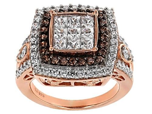 Photo of Bella Luce ® 3.52ctw White & Mocha Diamond Simulant Eterno ™ Rose Ring (1.91ctw Dew) - Size 7