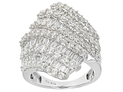 Photo of Bella Luce ® 6.98ctw Diamond Simulant Rhodium Over Sterling Silver Ring (5.61ctw Dew) - Size 5