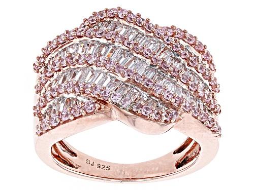 Photo of Bella Luce ® 4.35ctw Pink & White Diamond Simulant Round Eterno ™ Rose Ring (2.37ctw Dew) - Size 7