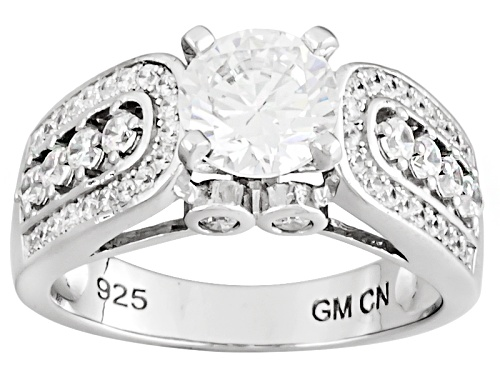 Photo of Bella Luce ® 3.33ctw Rhodium Over Sterling Silver Ring (1.84ctw Dew) - Size 9