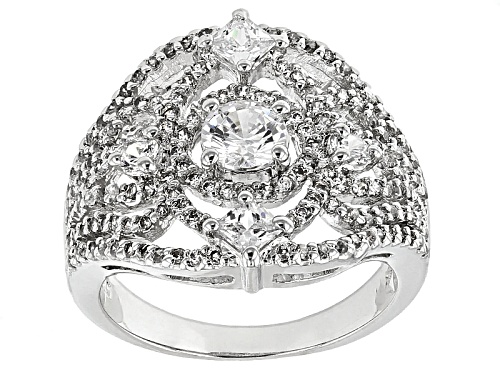 Photo of Bella Luce ® 3.19ctw Diamond Simulant Rhodium Over Sterling Silver Ring (1.79ctw Dew) - Size 6