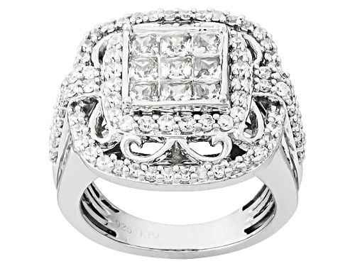 Photo of Bella Luce ® 4.19ctw Diamond Simulant Rhodium Over Sterling Silver Ring (2.48ctw Dew) - Size 5