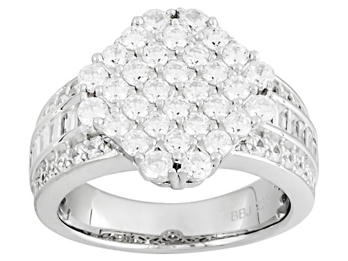 Photo of Bella Luce ® 3.49ctw Diamond Simulant Rhodium Over Sterling Silver Ring (1.98ctw Dew) - Size 8