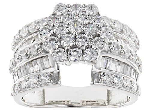 Photo of Bella Luce ® 4.50ctw Diamond Simulant Rhodium Over Sterling Silver Ring (2.29ctw Dew) - Size 7