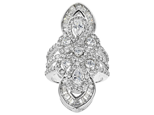 Photo of Bella Luce ® 4.99ctw Diamond Simulant Rhodium Over Sterling Silver Ring (3.25ctw Dew) - Size 6