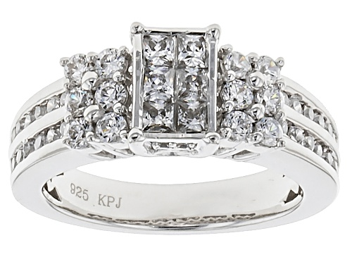 Photo of Bella Luce ® 2.29ctw Diamond Simulant Rhodium Over Sterling Silver Ring (1.22ctw Dew) - Size 12