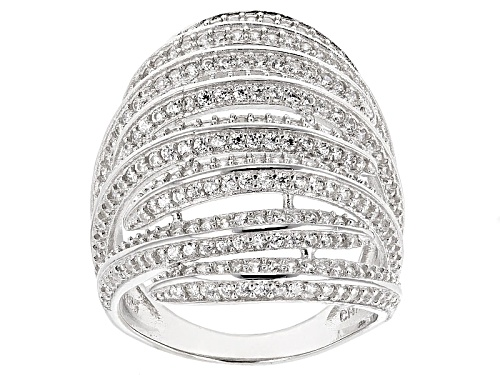 Photo of Bella Luce ® 4.14ctw Rhodium Over Sterling Silver Ring (2.07ctw Dew) - Size 5