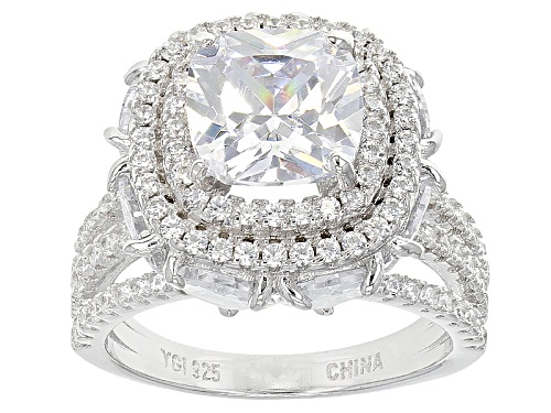 Photo of Bella Luce ® 13.29ctw Rhodium Over Sterling Silver Ring (7.77ctw Dew) - Size 11