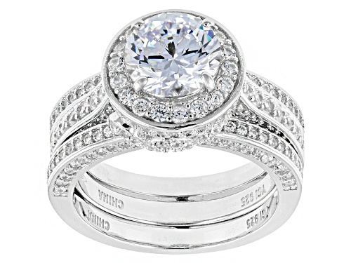 Photo of Bella Luce ® 5.90ctw Rhodium Over Sterling Silver Ring With Guard (3.46ctw Dew) - Size 12