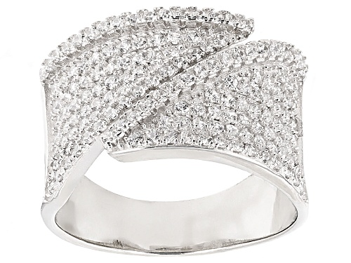 Photo of Bella Luce ® 1.50ctw Rhodium Over Sterling Silver Ring (.75ctw Dew) - Size 5