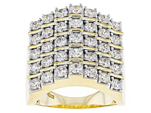 Photo of Bella Luce ® 4.10ctw Diamond Simulant Round Eterno ™ Yellow Ring (2.10ctw Dew) - Size 5