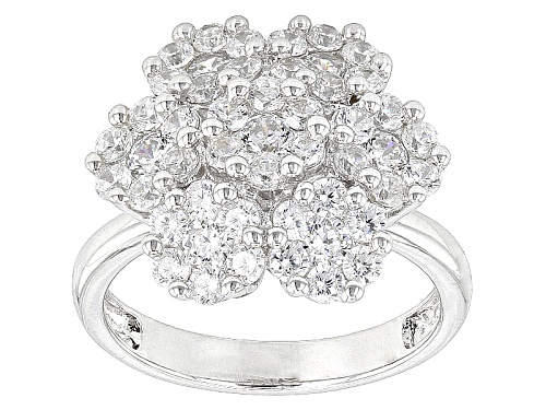 Photo of Bella Luce ® 3.57ctw Round Rhodium Over Sterling Silver Ring (1.82ctw Dew) - Size 8