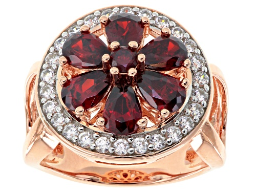Photo of Bella Luce ® 5.16ctw Ruby And White Diamond Simulants Eterno ™ Rose Ring - Size 7