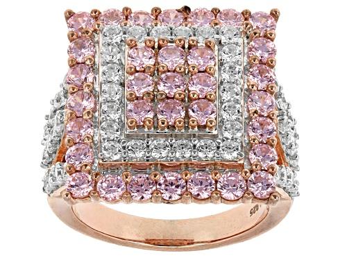 Photo of Bella Luce ® 6.15ctw Pink & White Diamond Simulant Eterno ™ Rose Ring (3.13ctw Dew) - Size 5