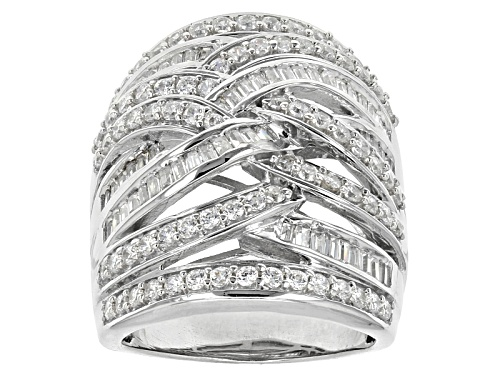 Photo of Bella Luce ® 3.97ctw Diamond Simulant Rhodium Over Sterling Silver Ring (2.38ctw Dew) - Size 5