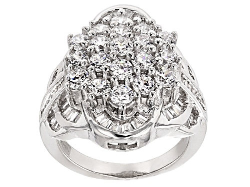 Photo of Bella Luce ® 5.35ctw Diamond Simulant Rhodium Over Sterling Silver Ring (3.33ctw Dew) - Size 5