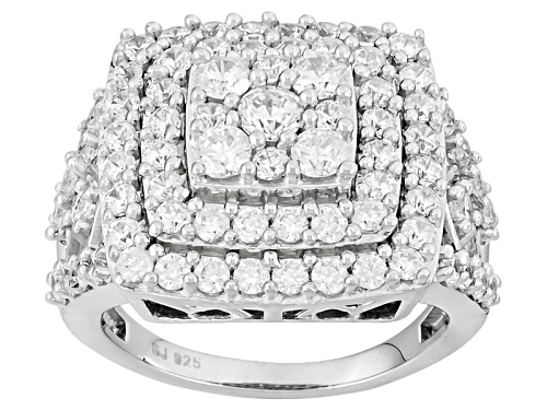 Photo of Bella Luce ® 4.30ctw Diamond Simulant Round Rhodium Over Sterling Silver Ring (2.18ctw Dew) - Size 5