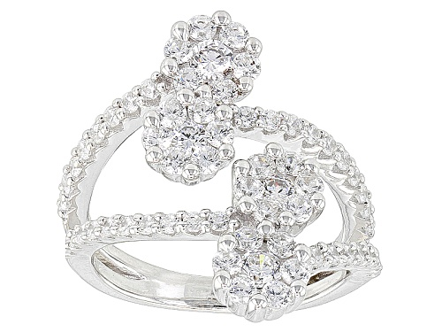 Photo of Bella Luce ® 2.82ctw Rhodium Over Sterling Silver Ring (1.60ctw Dew) - Size 7