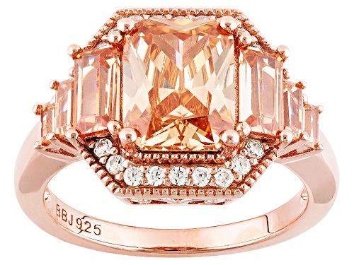 Photo of Bella Luce ® 5.10ctw Champagne & White Diamond Simulants Eterno ™ Rose Ring (4.00ctw Dew) - Size 6